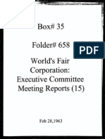 World's Fair Corporation - Executive Committee Meeting Reports - 02-28-1963