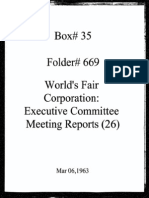 World's Fair Corporation - Executive Committee Meeting Reports - 03-06-1963
