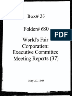 World's Fair Corporation - Executive Committee Meeting Reports - 05-27-1965