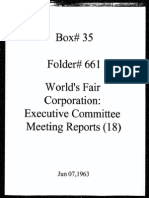 World's Fair Corporation - Executive Committee Meeting Reports - 06-07-1963