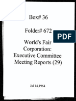 World's Fair Corporation - Executive Committee Meeting Reports - 07-14-1964