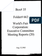 World's Fair Corporation - Executive Committee Meeting Reports - 08-15-1963