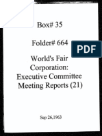 World's Fair Corporation - Executive Committee Meeting Reports - 09-26-1963