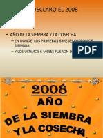 AÑO 2008 COSECHA
