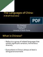 Languages of China 2012