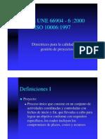 Iso 10006-1997 Calidad Gestión Proyectos-Presentación