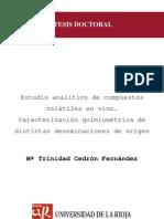 Estudio Analítico de Compuestos Volátiles en Vino - Caracterización Quimiométrica de Distintas Denominaciones de Orígen
