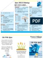 2012 Life With Spice Brochure