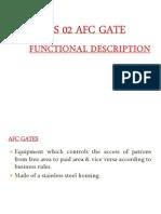 AFC GATE Functional Desc (Operation)