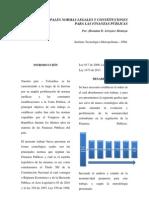 Normatividad en Finanzas Publicas