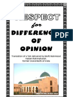 Respect for Differences of Opinion