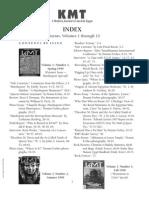 Kmt Article Index