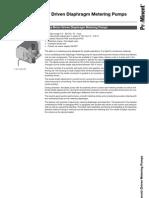 ProMinent Alpha Motor Driven Diaphragm Metering Pumps