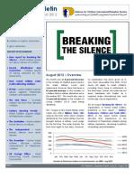 Defence for Children International-Palestine's monthly bulletin on detention  - Issue 32 - September  2012