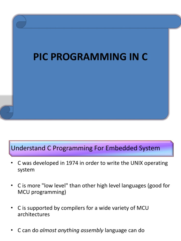 Pic Programming In C