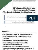 ADB Support for Emerging Microfinance in Viet Nam