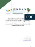 Indicadores de Gestión de las Universidades Estatales Argentinas