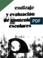 Aprendizaje y Evaluacion de Contenidos Escolares