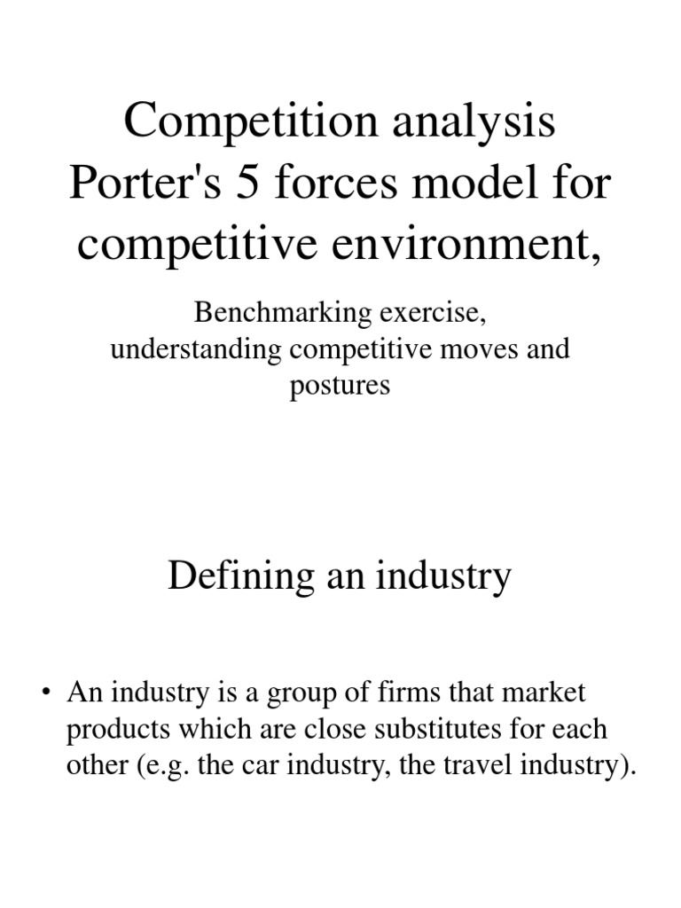Competition Analysis Porter\'s 5 Forces Model for Competitive ...