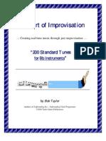 Bob Taylor - Jazz Improvisation - Book - 200 Standards - Bb