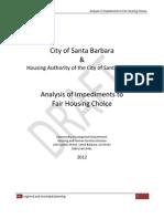 Santa Barbara Draft Analysis of Impediments to Fair Housing Choice