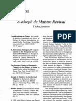 Joseph de Maistre Revival