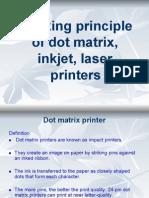Working Principle of Dot Matrix Inkjet Laser Printers
