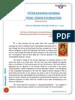 Vivekananda Kendra Vedic Vision Foundation Annual Report 2011-12
