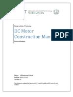 DC Motor Construction Manual