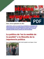 Noticias Uruguayas Lunes 24 Setiembre Del 2012
