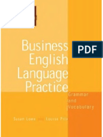 Business English Language Practice - Grammar and Vocabulary RED