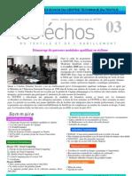 Echos Septembre 2010