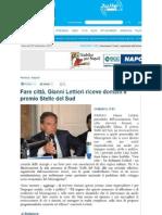 Gianni Lettieri premiato con il Stelle del Sud
