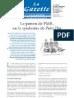 Le patron de PME ou le syndrome  de Peter Pan - Article paru dans La Gazette Janvier 2010
