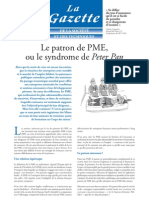 Le patron de PME ou le syndrome  de Peter Pan - Article paru dans La Gazette Janvier 2010
