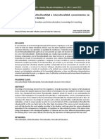 Pluriculturalidad, multiculturalidad e interculturalidad, conocimientos necesarios para la labor docente