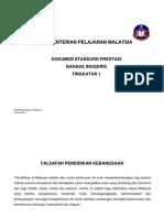 Dokumen Standard Prestasi Bahasa Inggeris Tingkatan 1