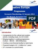 Presentation Creative Europe_Eurosonic - 12 01 2012 Public