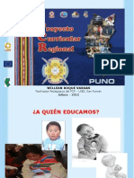 Proyecto Curricular Regional Puno (UGEL San Román 2012)