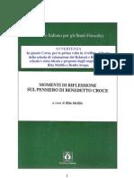 Rita Melillo, Momenti Di Riflessione Sul Pensiero Di Benedetto Croce, 1995, PPE