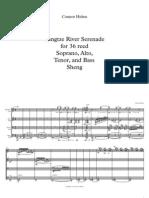 Yangtze River Serenade for 36 Reed Soprano, Alto, Tenor, And Bass Sheng - Full Score