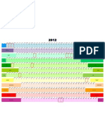 2012 Color Calendar