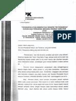 Surat Tanggapan Atas Keberatan Eksepsi - Miranda S. Goeltom