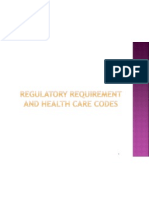 Regulatory Requirement and Health Care Codes