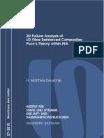 3D Failure Analysis of UD Fibre Reinforced Composites