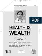 Health is Wealth- Cyrus Driver