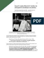 18. Secta Vatican II contra Bisericii Catolice în privinţa participării la închinare necatolică