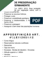 Direito Ambiental - App's