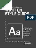 The Internet Marketing Written Style Guide - HubSpot