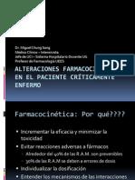 Alteraciones Farmacocinéticas en el paciente Críticamente Enfermo